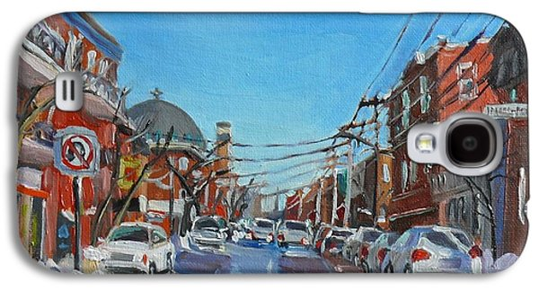 Montreal Scene Darlene Young Galaxy S4 Case by Darlene Young