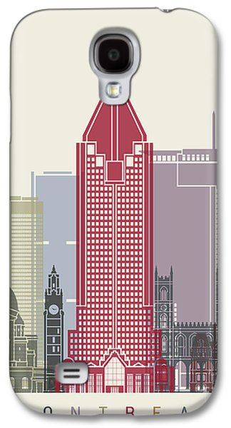 Montreal Skyline Poster Galaxy S4 Case by Pablo Romero