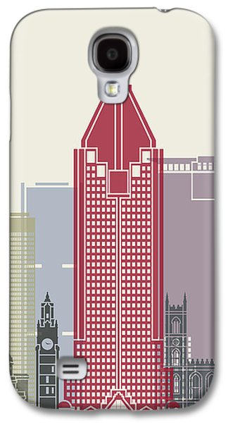 Montreal Skyline Poster Galaxy S4 Case