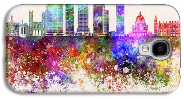 Montreal V2 Skyline In Watercolor Background Galaxy S4 Case by Pablo Romero