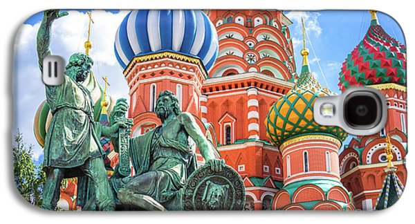 Moscow Galaxy S4 Case - Monument To Minin And Pozharsky by Delphimages Photo Creations