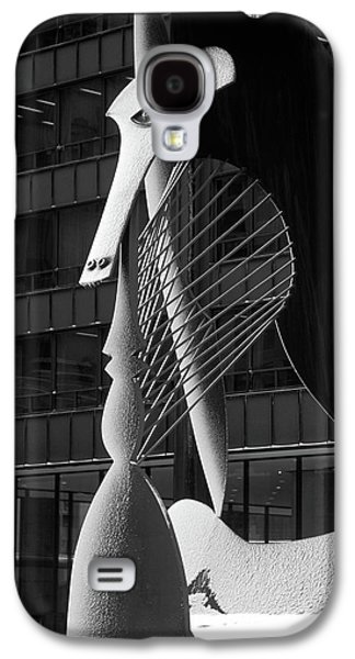 Monumental Sculpture In Front Of A Building, Chicago Picasso, Daley Plaza, Chicago, Illinois, Usa Galaxy S4 Case