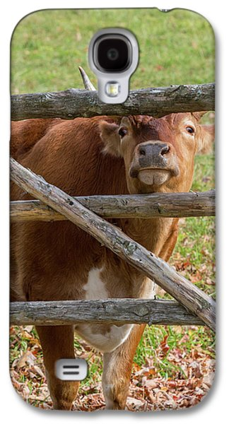 Galaxy S4 Case featuring the photograph Moo by Bill Wakeley