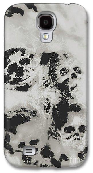 Moody Dramatic Cobwebby Skull Artwork Galaxy S4 Case by Jorgo Photography - Wall Art Gallery