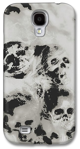 Moody Dramatic Cobwebby Skull Artwork Galaxy S4 Case by Jorgo Photography - Wall Art Gallery