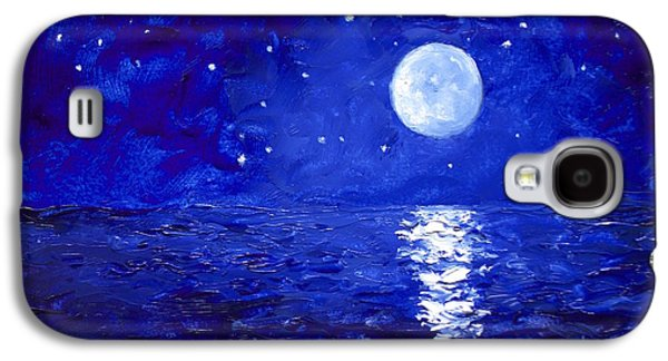 Moon And Stars Painting Galaxy S4 Case