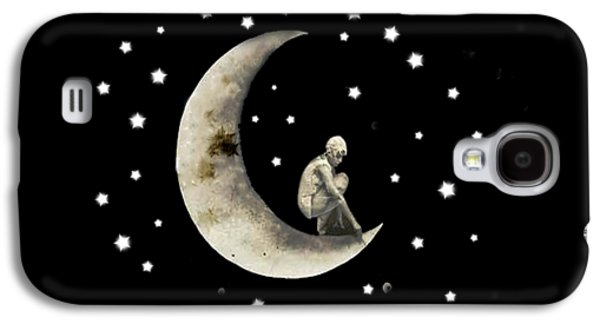 Moon And Stars T Shirt Design Galaxy S4 Case