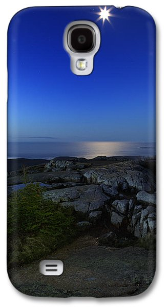 Maine Mountains Galaxy S4 Cases - Moon Over Cadillac Galaxy S4 Case by Rick Berk
