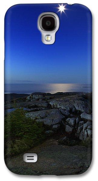 Moon Over Cadillac Galaxy S4 Case by Rick Berk
