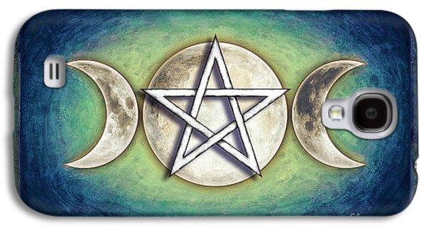 Moon Pentagram - Tripple Moon 2 Galaxy S4 Case by Dirk Czarnota