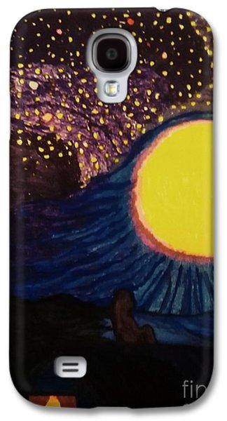 Moon Pieces  Galaxy S4 Case by Ishy Christine Degyansky