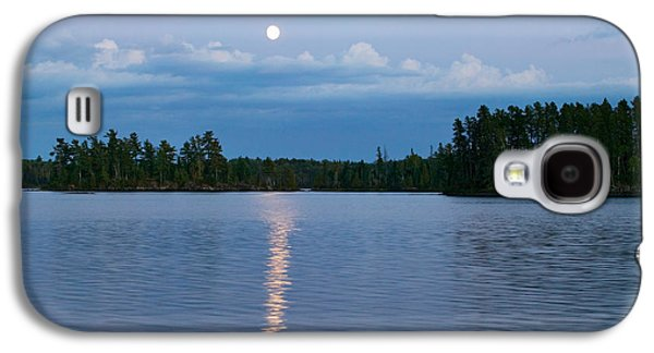 Moon Rising Over Lake One, Water Galaxy S4 Case by Panoramic Images