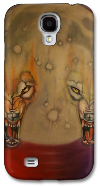 Animation Paintings Galaxy S4 Cases - Moon Galaxy S4 Case by Roger Williamson