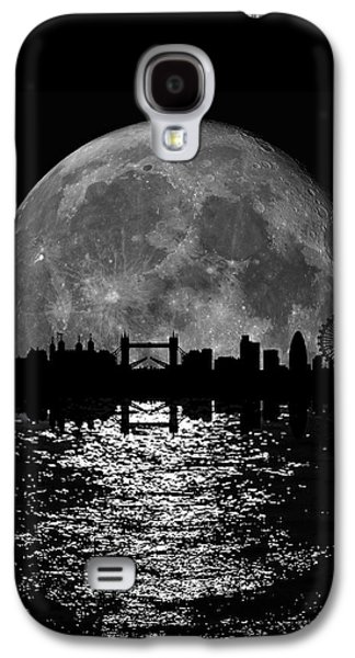 Moonlight London Skyline Galaxy S4 Case by Mark Rogan