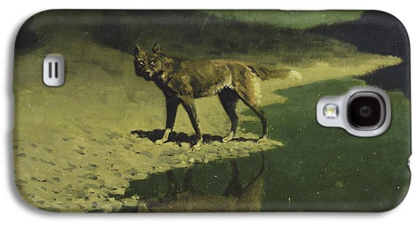 Moonlight, Wolf Galaxy S4 Case by Frederic Remington