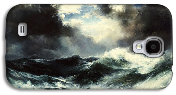 Moonlit Shipwreck At Sea Galaxy S4 Case by Thomas Moran