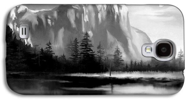 Moonlit Yosemite Lake Galaxy S4 Case by Ron Chambers