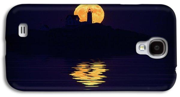 Moonrise Over Cape Neddick Galaxy S4 Case by Rick Berk