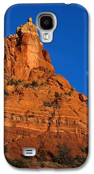 Moonrise Galaxy S4 Cases - Moonrise over Red Rock Galaxy S4 Case by Mike  Dawson