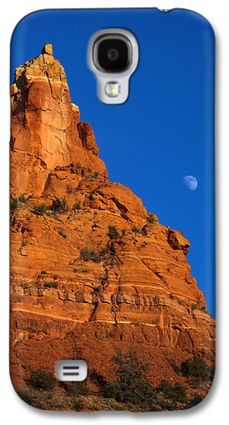 Moonrise Over Red Rock Galaxy S4 Case