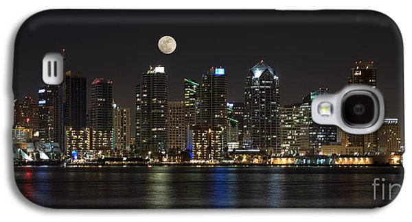 Moonrise Over San Diego Galaxy S4 Case by Sandra Bronstein
