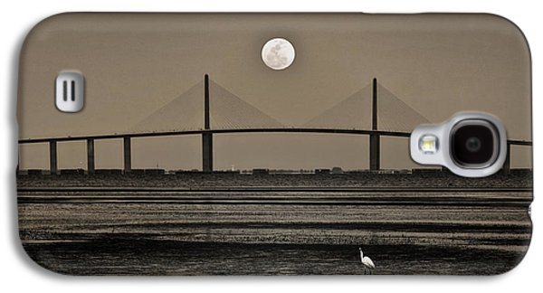 Moonrise Over Skyway Bridge Galaxy S4 Case