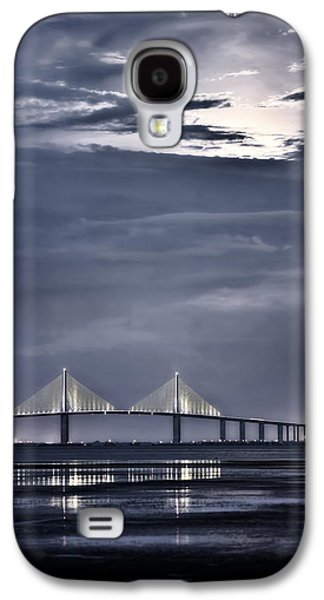 Moonrise Over Sunshine Skyway Bridge Galaxy S4 Case