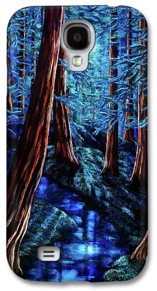 Moonrise Over The Los Altos Redwood Grove Galaxy S4 Case by Laura Iverson