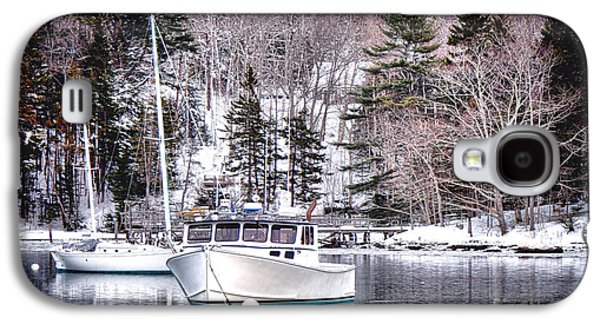 Moored Boats In Maine Winter  Galaxy S4 Case
