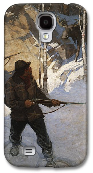 Moose Hunting Galaxy S4 Case by Newell Convers Wyeth