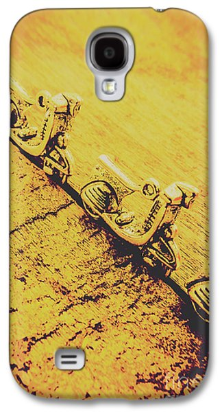 Moped Parking Lot Galaxy S4 Case by Jorgo Photography - Wall Art Gallery