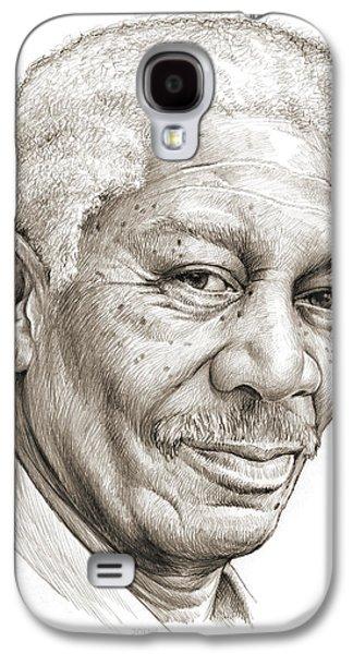 Morgan Freeman Galaxy S4 Case by Greg Joens