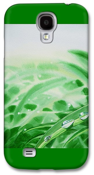 Affirmation Galaxy S4 Cases - Morning Dew Drops Galaxy S4 Case by Irina Sztukowski