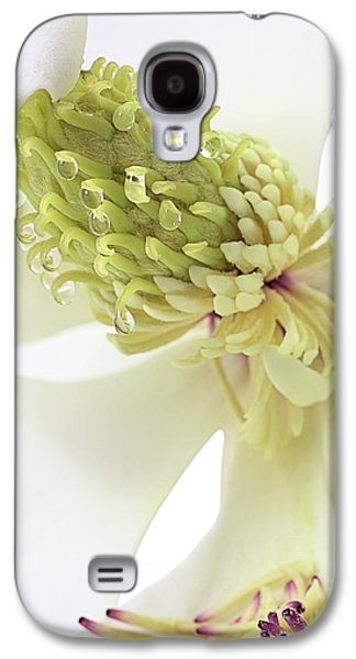 Galaxy S4 Case featuring the photograph Morning Dew On The Magnolia by JC Findley