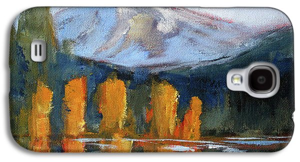 Galaxy S4 Case featuring the painting Morning Light Mountain Landscape Painting by Nancy Merkle