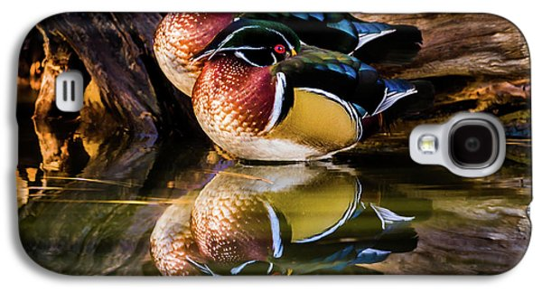 Morning Reflections - Wood Ducks Galaxy S4 Case