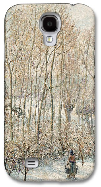 Morning Sunlight On The Snow Eragny Sur Epte Galaxy S4 Case by Camille Pissarro