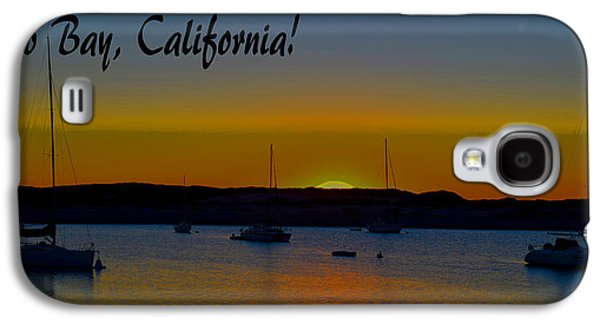 Morro Bay California Abstract Sunset Galaxy S4 Case by Barbara Snyder