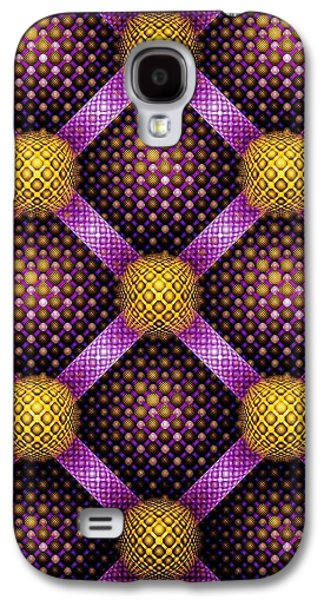 Mosaic - Purple And Yellow Galaxy S4 Case