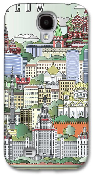 Moscow City Poster Galaxy S4 Case