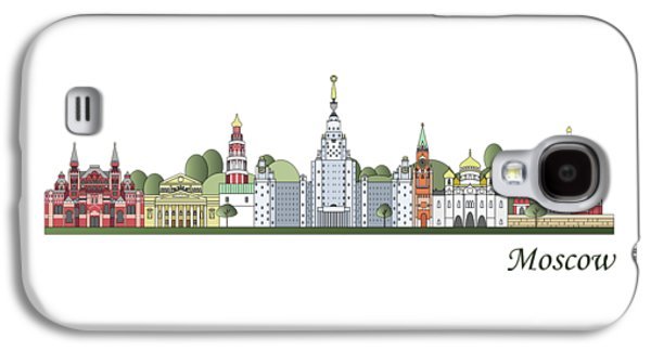 Moscow Skyline Colored Galaxy S4 Case