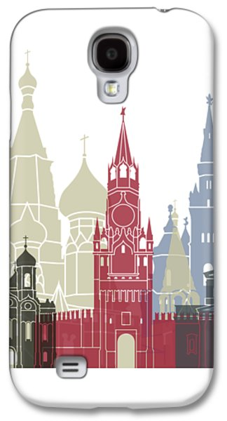 Moscow Skyline Poster Galaxy S4 Case