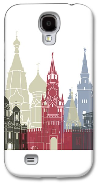 Moscow Skyline Poster Galaxy S4 Case by Pablo Romero