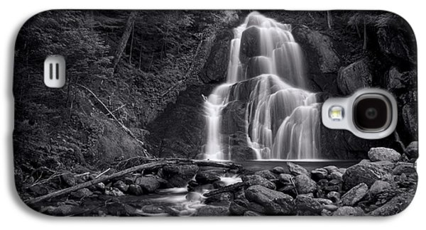 Moss Glen Falls - Monochrome Galaxy S4 Case by Stephen Stookey