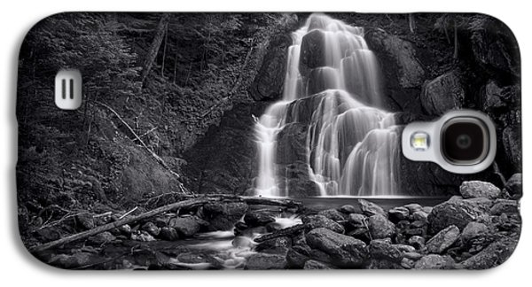 Galaxy S4 Case - Moss Glen Falls - Monochrome by Stephen Stookey