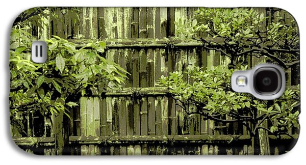 Bamboo Fence Galaxy S4 Cases - Mossy Bamboo Fence - Digital Art Galaxy S4 Case by Carol Groenen