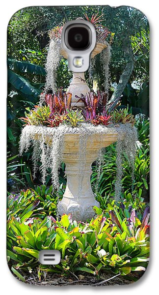 Mossy Fountain With Bromeliads Galaxy S4 Case by Carol Groenen