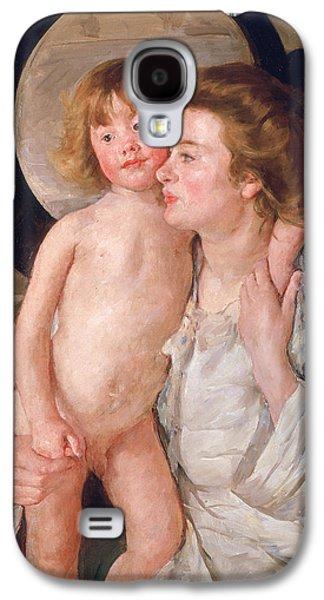 Mother And Boy Galaxy S4 Case by Mary Stevenson Cassatt