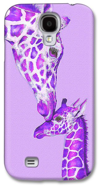 Mother Giraffe Galaxy S4 Case by Jane Schnetlage