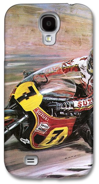 Motorcycle Racing Galaxy S4 Case by Graham Coton